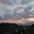 夕陽 北アルプス